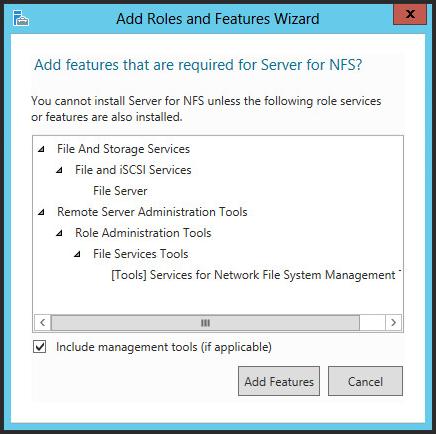 WS2012 Storage - NFS Server - Configure NFS for VMware vSphere 5 1