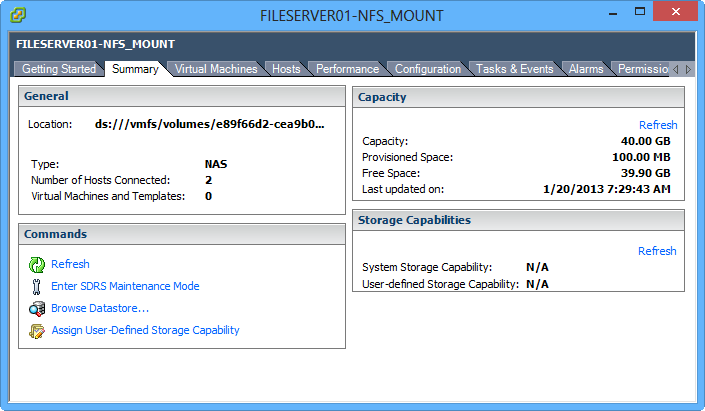 WS2012 Storage - NFS Server - Configure NFS for VMware