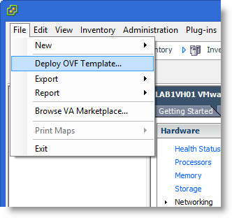 How to Deploy an OVF Template from a Remote Web Server