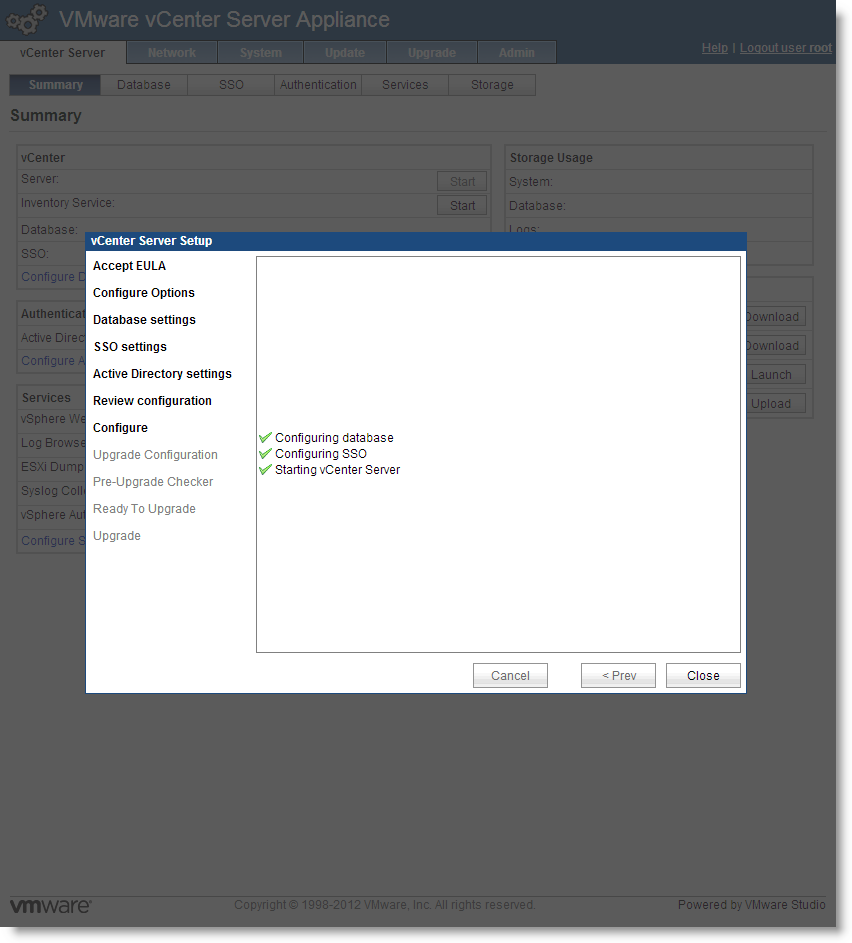 Deploying and Configuring vCenter Server Appliance 5 1