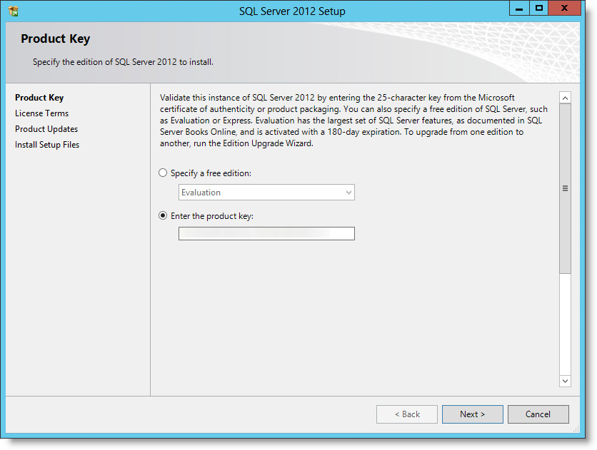 Installing Microsoft SQL Server 2012 Standard Edition SP1 in my Home