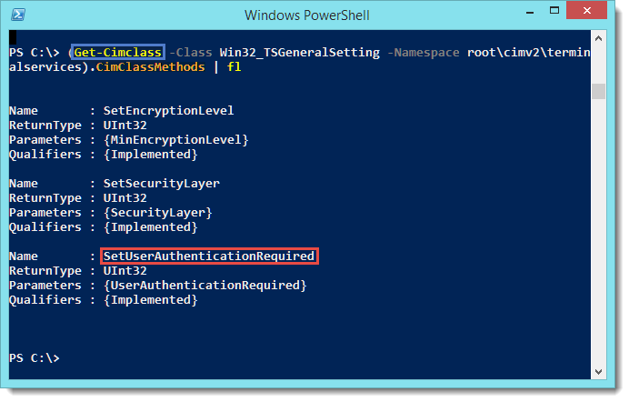 PowerShell - Get/Set the Network Level Authentication Remotely (RDP