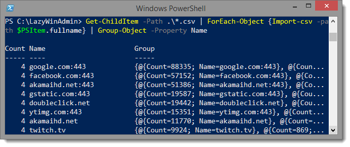 PowerShell - Sum similar entries from multiple CSV files - LazyWinAdmin