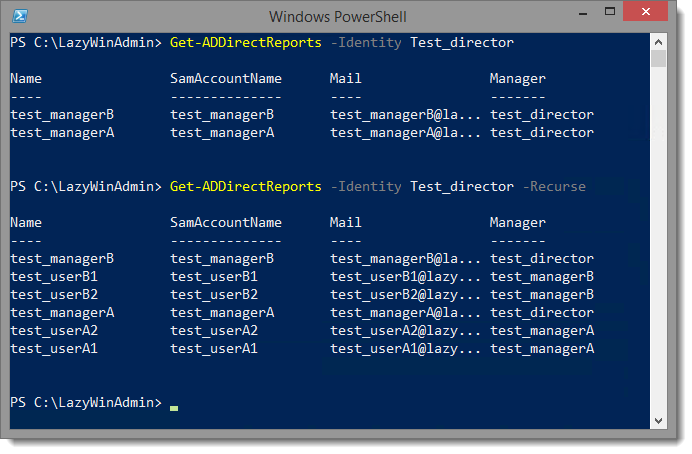 PowerShell - Who Reports to Whom? (Active Directory