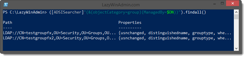 Use the PowerShell [adsiSearcher] Type Accelerator to ...