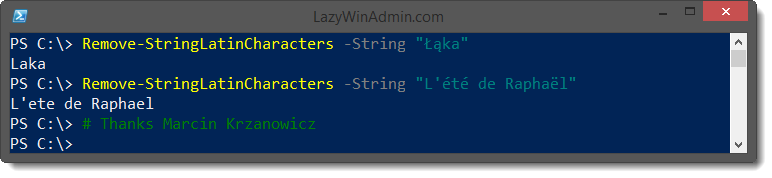 PowerShell - Remove Diacritics (Accents) from a string - LazyWinAdmin