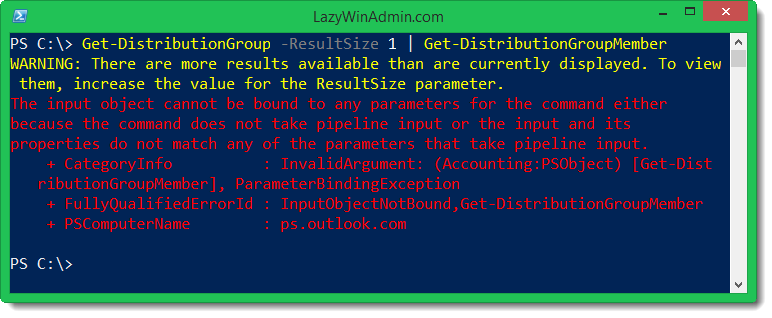 Get-DistributionGroupMember error