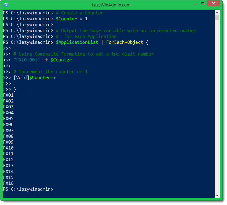 PowerShell/SCCM - Create a Dynamic Variable list during the