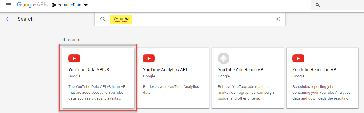 Retrieving Youtube video information from Google APIs using